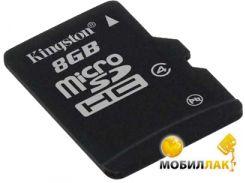 Карта памяти Kingston 8GB microSDHC Class 4 (no adapter) (SDC4/8GBSP)