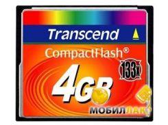Карта памяти Transcend 4GB Compact Flash (133X) (TS4GCF133)