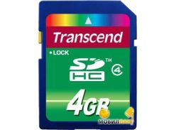 Карта памяти Transcend 4GB SDHC Class 4 (TS4GSDHC4)