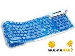 Клавиатура Manhattan Roll-Up USB Blue