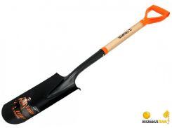 Лопата штыковая Truper дренажная, дерево с ручкой, 1120 мм (17163)