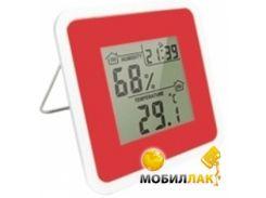 Термометр-гигрометр цифровой Стеклоприбор Т-07 red