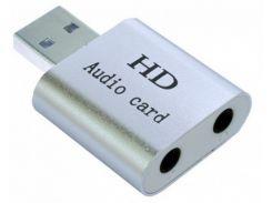Звуковая карта Dynamode USB-SOUND7-ALU Silver 7.1 USB
