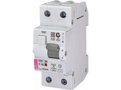 Дифференциальный автоматический выключатель ETI KZS-2M C16/003 AC (10kA)