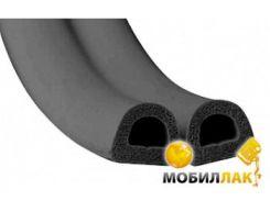 Уплотнитель самоклеющийся Budowa D 14х12 черный 40м бухта (71048003)