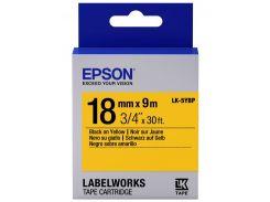 Картридж с лентой Epson LK5YBP Pastel 18мм/9м Black/Yellow (C53S655003)