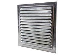 Решетка вентиляционная 300х300 оцинкованная с сеткой , Сталь NEW