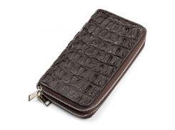 Мужской клатч Ekzotic Leather из натуральной кожи крокодила Коричневый  (cw 42)