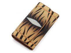 Кошелек женский Ekzotic leather из натуральной кожи морского ската Коричневый (stw 68)