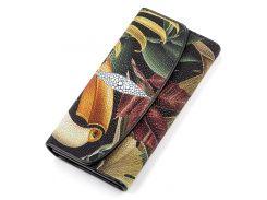 Кошелек женский Ekzotic leather из натуральной кожи морского ската Разноцветный (stw 86)