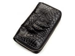 Кошелек-клатч Ekzotic Leather из натуральной кожи крокодила Черный   (cw 58)