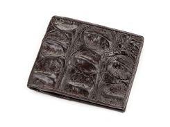 Портмоне Ekzotic Leather из натуральной кожи крокодила Коричневое   (cw 61)