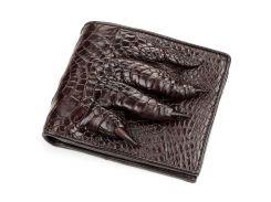 Портмоне Ekzotic Leather из натуральной кожи крокодила Коричневое   (cw 62)