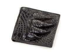 Кошелек мужской Ekzotic Leather из натуральной кожи крокодила Черный  (cw 63)