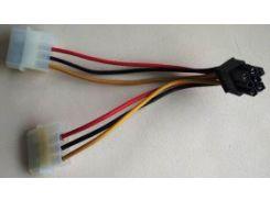 переходник питания для видеокарты 6pin (PCI-X) с Molex 4pin