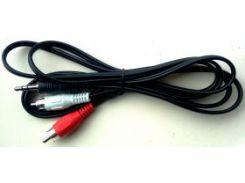 "Кабель аудио 1,5м Jack 3.5мм (папа) на 2xRCA (""тюльпан"" папа) Cablexpert (CCA-458 1.5 м)"