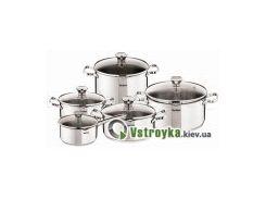 Набор кухонной посуды из нержавеющей стали Tefal Duetto A705SC84