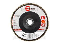 Диск шлифовальный лепестковый INTERTOOL BT-0223