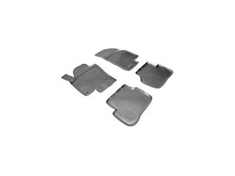 Коврики в салон для Volkswagen Passat CC '12-16 полиуретановые, черные (Nor-Plast) Киев