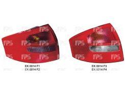 Фонарь задний для Audi A6 седан '01-05 левый (DEPO) зад ход красно-белый 1327872E