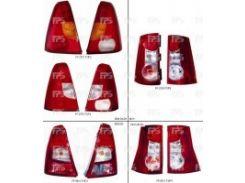 Фонарь задний для Renault Logan '04-08 левый (DEPO) бело-красный 2800872E