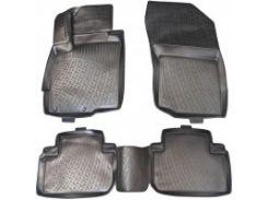 Коврики в салон для Mitsubishi Outlander '12- полиуретановые, черные (L.Locker)