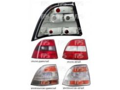 Фонарь задний для Opel Vectra B седан/хетчбек '95-99 правый (DEPO) красно-белый