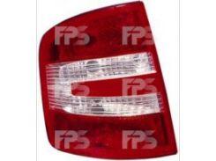 Фонарь задний для Skoda Fabia седан/универсал '05-07 правый (DEPO) 665-1910R-UE
