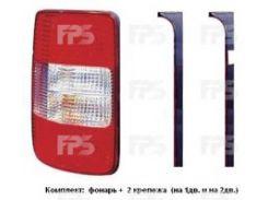 Фонарь задний для Volkswagen Caddy '04-15 правый (DEPO) 1/2 Door (В К-Те С Универс. Креп-М) 2K0945096C