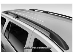 Рейлинги для Renault Trafic '01-14, кор. база, черные (пласт. концевик)