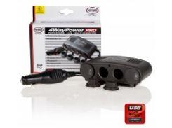 Разветвитель-розетка Alca Premium 4-WAY POWER 12V socket + USB (511 000)