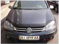 Дефлектор капота для Volkswagen Golf VI '09-12, c логотипом (EGR)