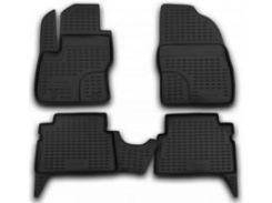 Коврики в салон для Ford Kuga '08-13 полиуретановые, черные (Novline)