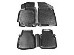 Коврики в салон для Chevrolet Lacetti '03-12 полиуретановые, черные (L.Locker)