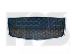 Решетка бампера для Aveo '08-11 Хетчбек средняя, нижняя (с хром. молдингом) (FPS)