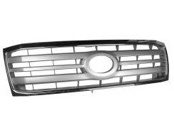 Решетка радиатора для Toyota Land Cruiser 100 '05-07 хром/серая (FPS)
