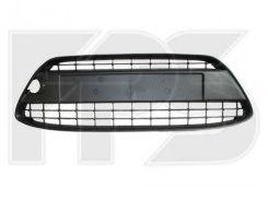 Решетка бампера для Ford Fiesta '09-13 без отверстий под рамку (цельнолитая) (FPS)