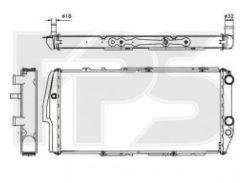 Радиатор охлаждения двигателя для AUDI (FPS) FP 12 A415