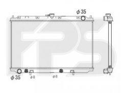 Радиатор охлаждения двигателя для NISSAN (KOYORAD) FP 50 A604-X