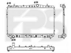 Радиатор охлаждения двигателя для CHEVROLET (FPS) FP 17 A782
