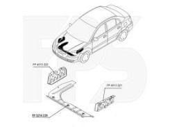 Защита двигателя пластиковая для Kia Rio '05-11 FP 4013 222 (FPS)