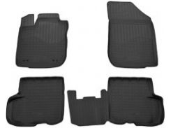 Коврики в салон для Renault Logan '13- полиуретановые, черные (Nor-Plast)