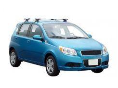 Багажник на крышу для Chevrolet Aveo T255 '08-11 хетчбэк, сквозной (Whispbar-Prorack)