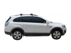 Багажник на рейлинги для Chevrolet Captiva '06-, до края опоры (Whispbar-Prorack)