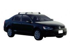Багажник на крышу для Volkswagen Jetta VI '10-, до края опоры (Whispbar-Prorack)