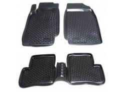Коврики в салон для Nissan Micra '03-10 полиуретановые, черные (L.Locker)