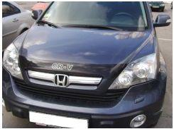 Дефлектор капота для Honda CR-V '06-10, c логотипом, широк. (EGR)