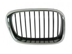 Решетка радиатора для BMW 5 E39 '00-03 правая, хром/черная (Tempest)