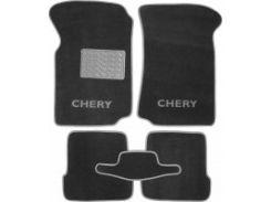 Коврики в салон для Chery Amulet '04-12 текстильные, серые (Люкс)