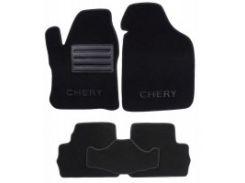 Коврики в салон для Chery Beat '11- текстильные, черные (Люкс)